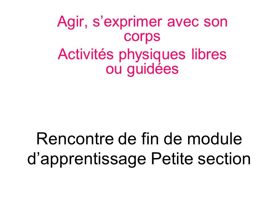 Rencontre de fin de module d'apprentissage Petite section