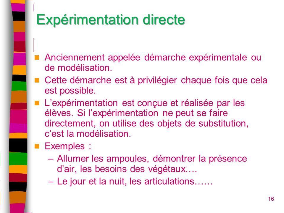 Expérimentation directe