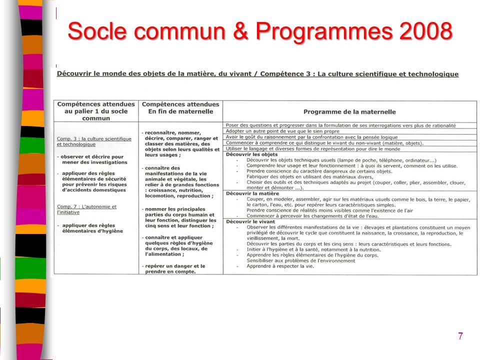 Socle commun & Programmes 2008
