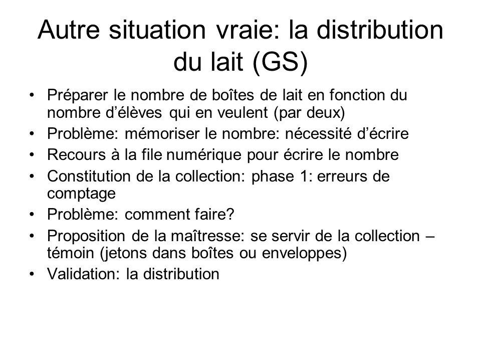 Autre situation vraie: la distribution du lait (GS)