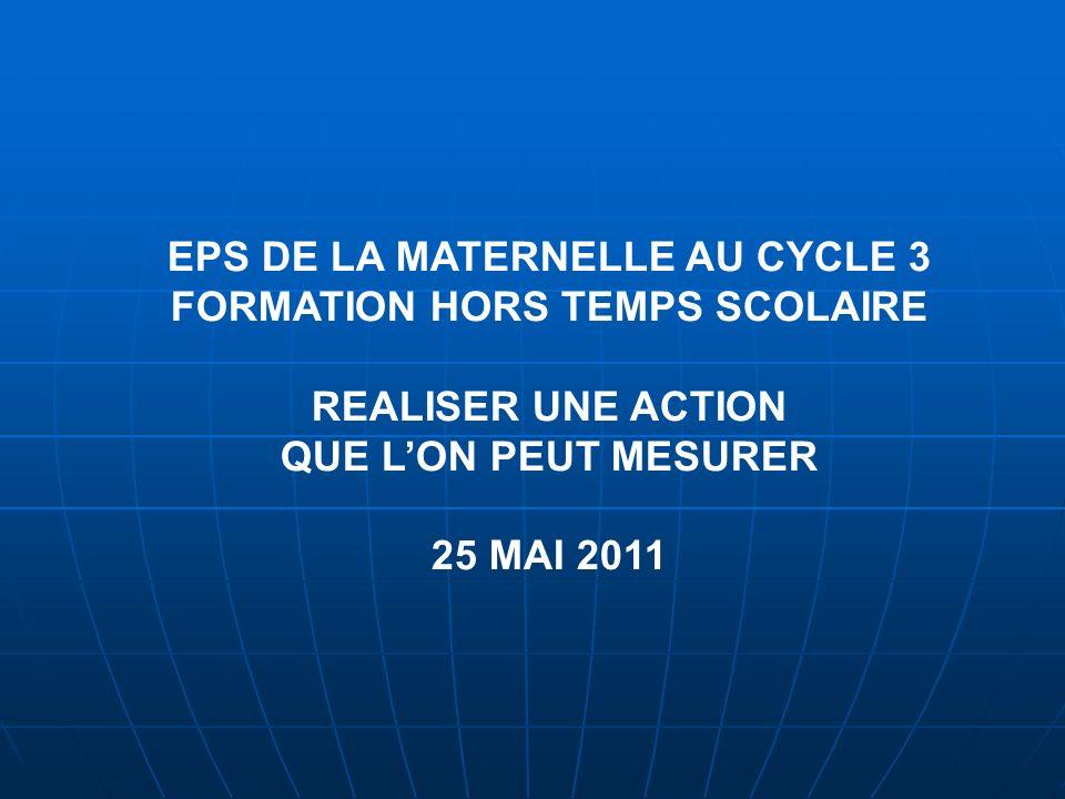 REALISER UNE ACTION 25 MAI 2011