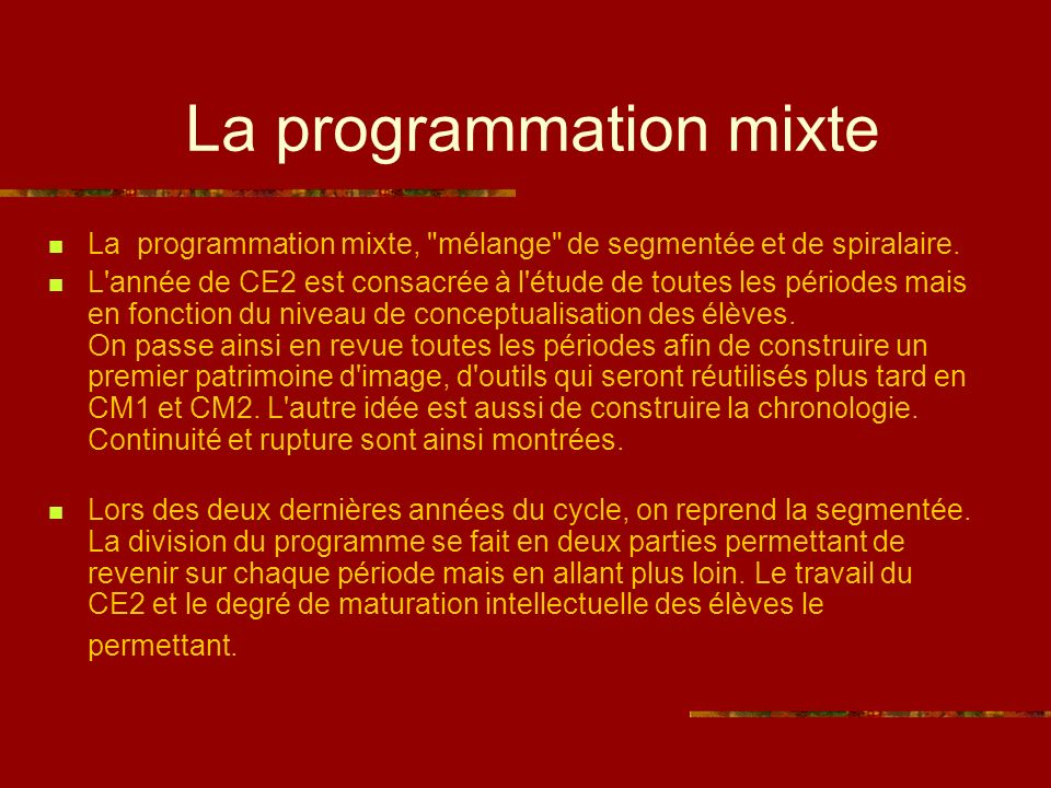 La programmation mixte