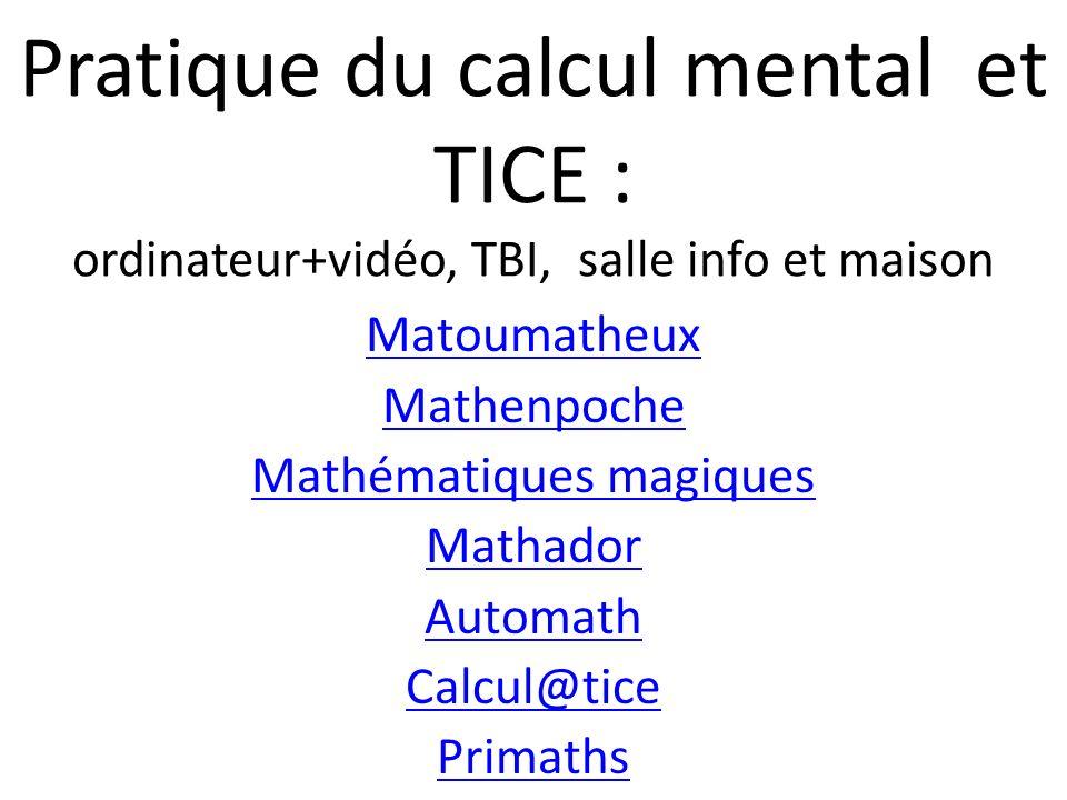 Mathématiques magiques