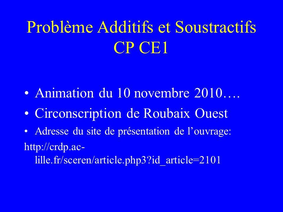 Problème Additifs et Soustractifs CP CE1