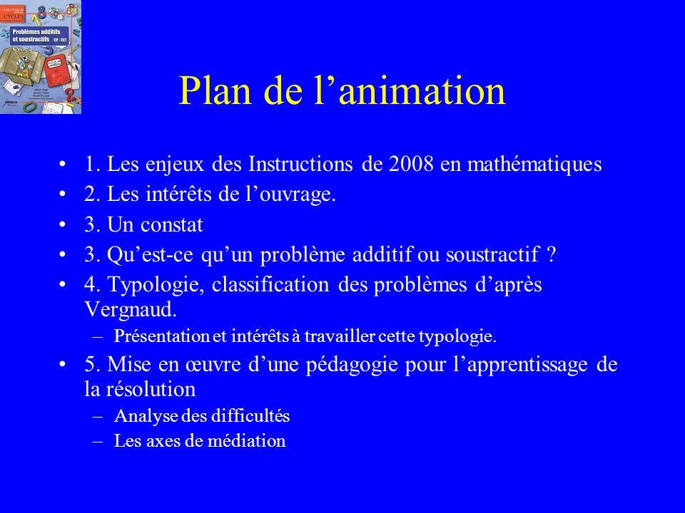 Plan de l'animation 1. Les enjeux des Instructions de 2008 en mathématiques. 2. Les intérêts de l'ouvrage.