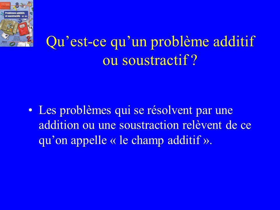 Qu'est-ce qu'un problème additif ou soustractif