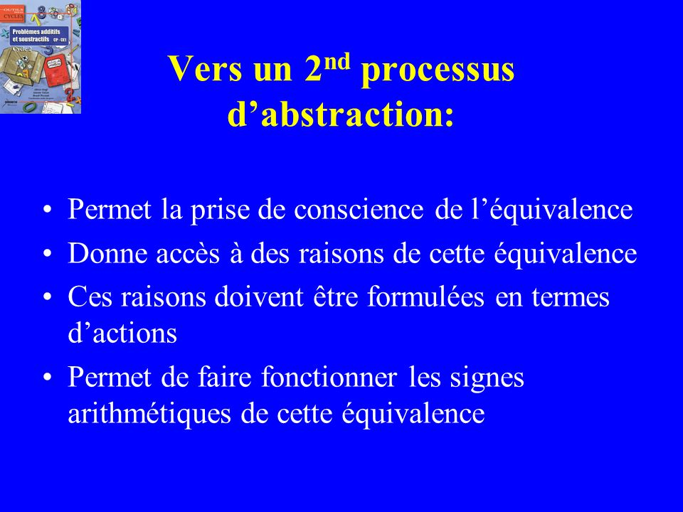Vers un 2nd processus d'abstraction: