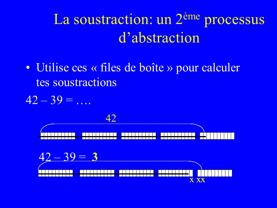 La soustraction: un 2ème processus d'abstraction