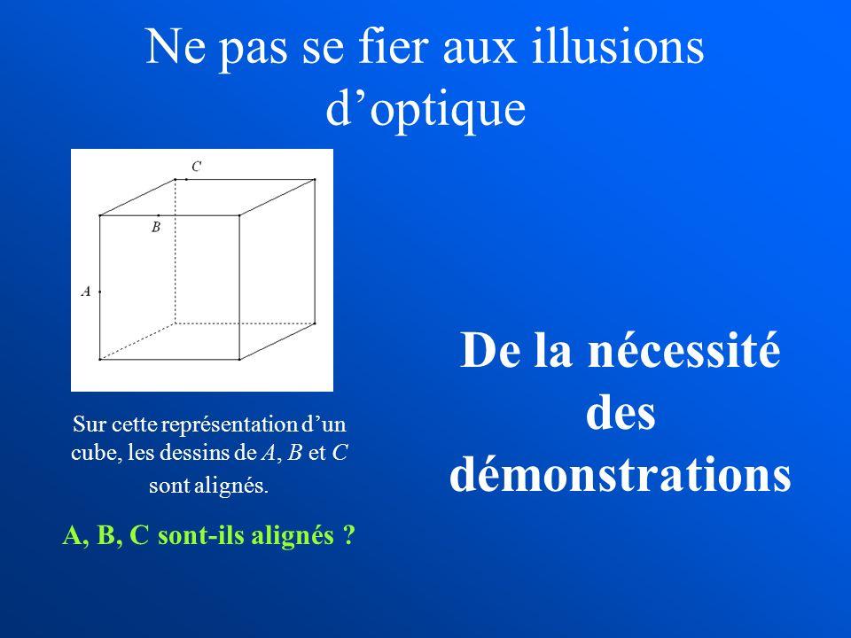 Ne pas se fier aux illusions d'optique