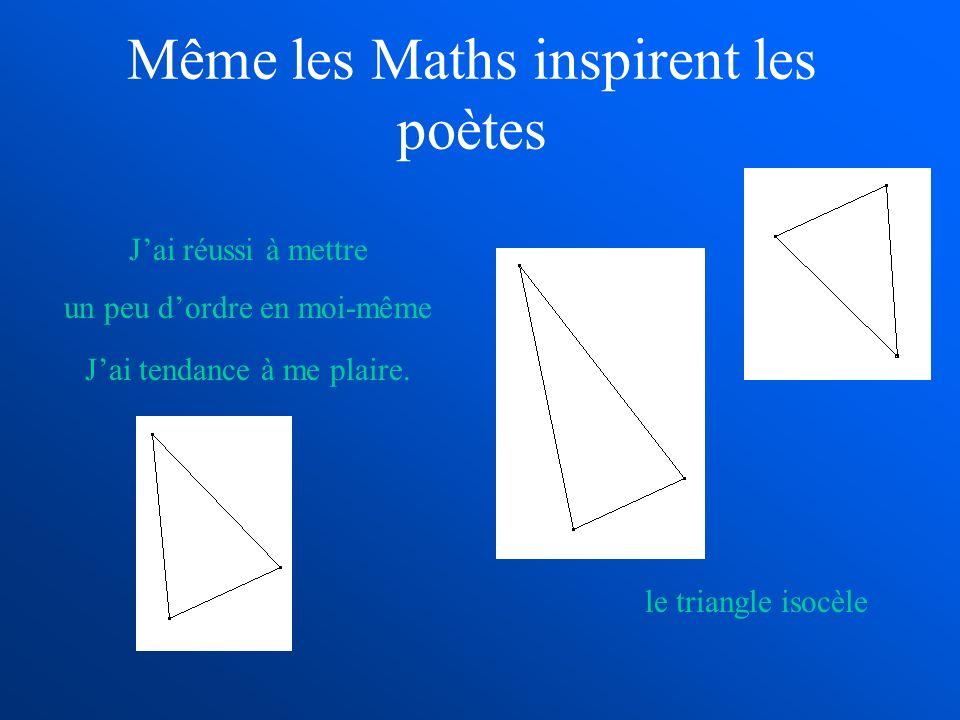 Même les Maths inspirent les poètes