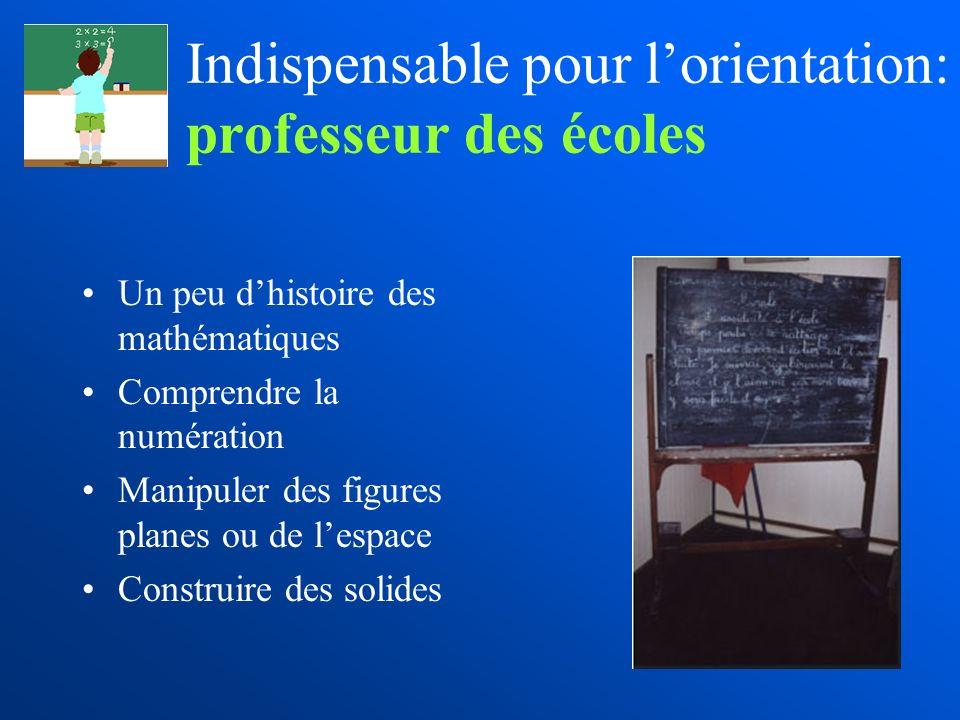 Indispensable pour l'orientation: professeur des écoles