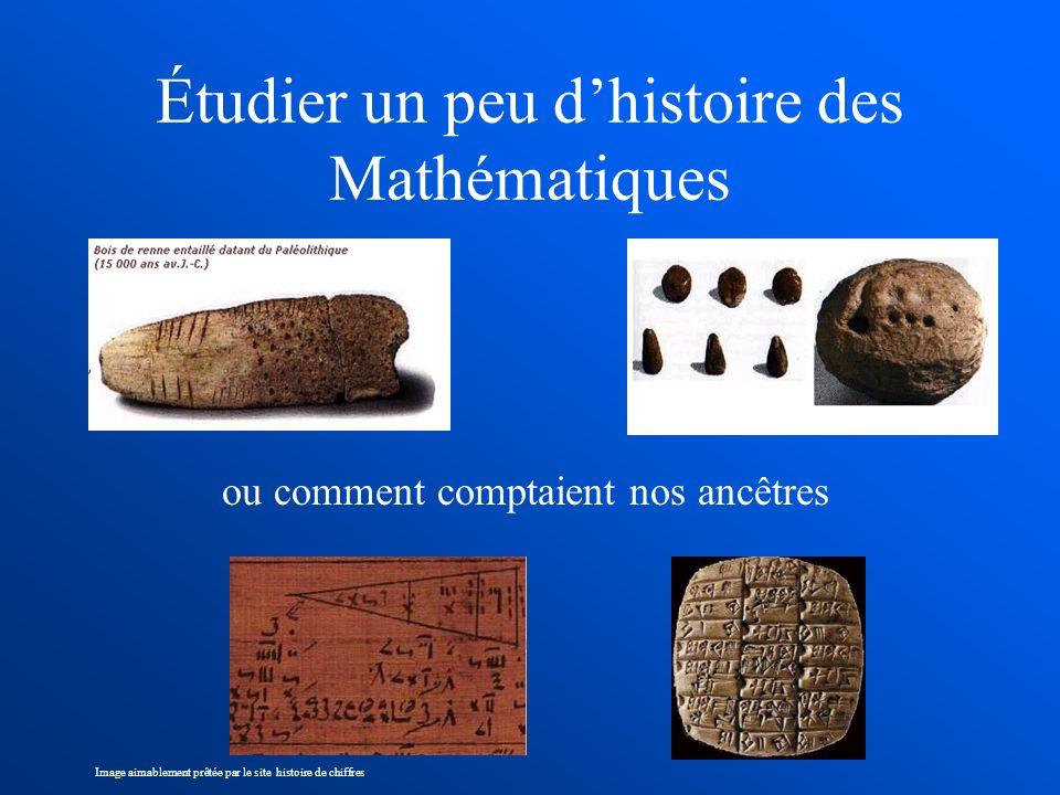 Étudier un peu d'histoire des Mathématiques