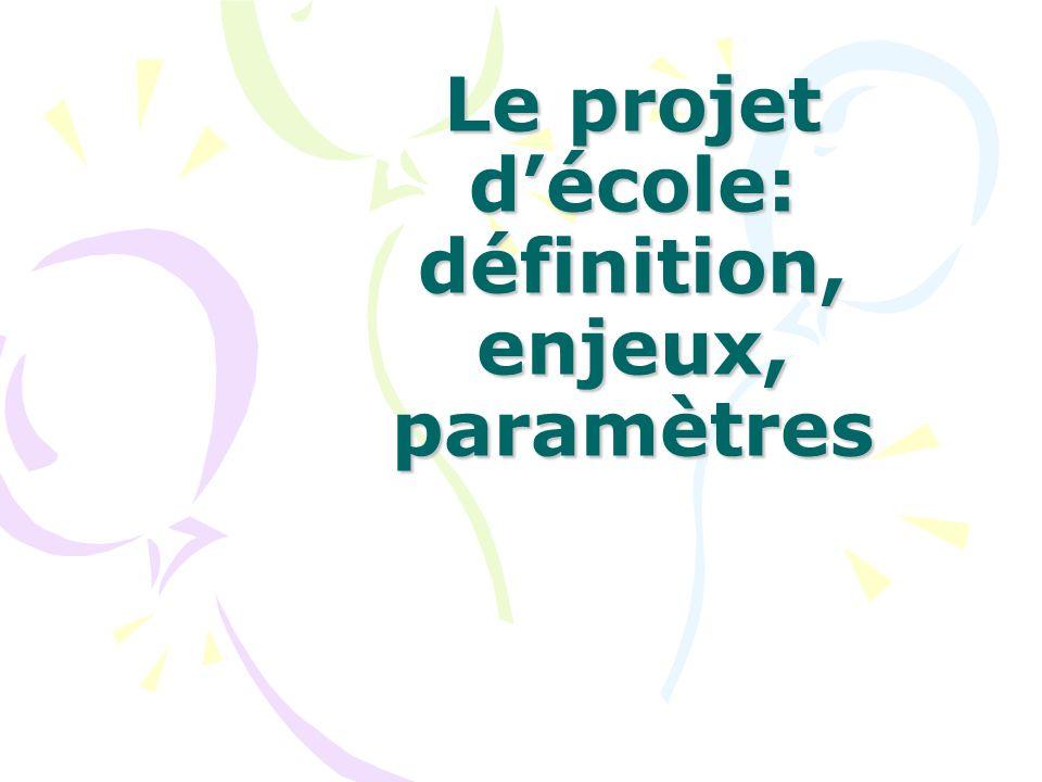 Le projet d'école: définition, enjeux, paramètres