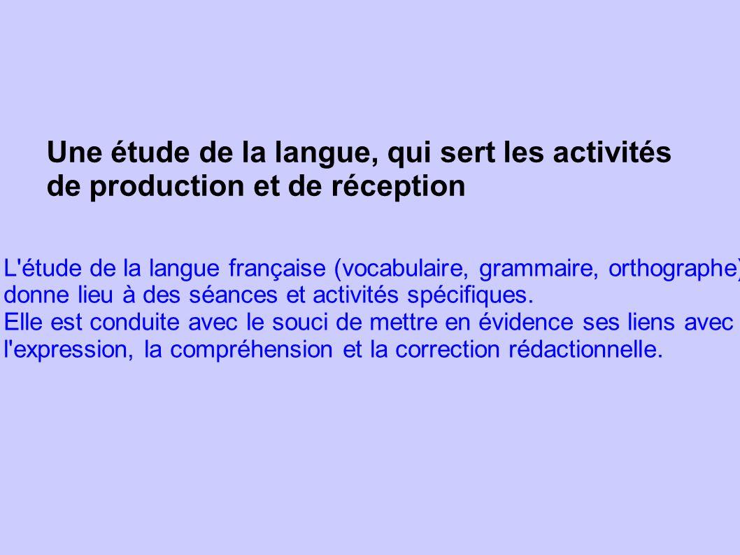 Une étude de la langue, qui sert les activités