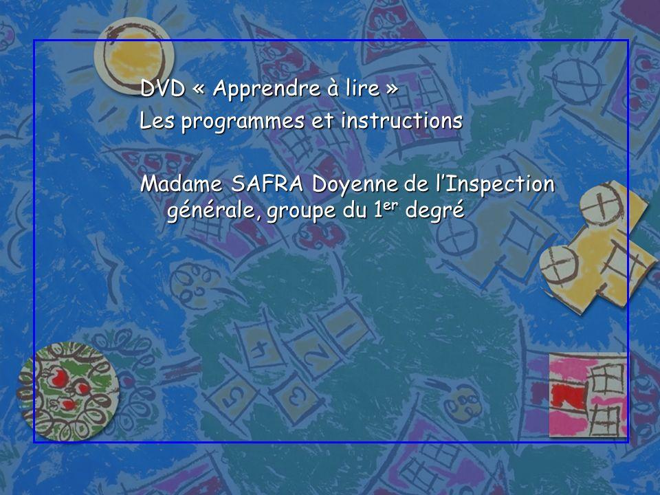 DVD « Apprendre à lire » Les programmes et instructions.