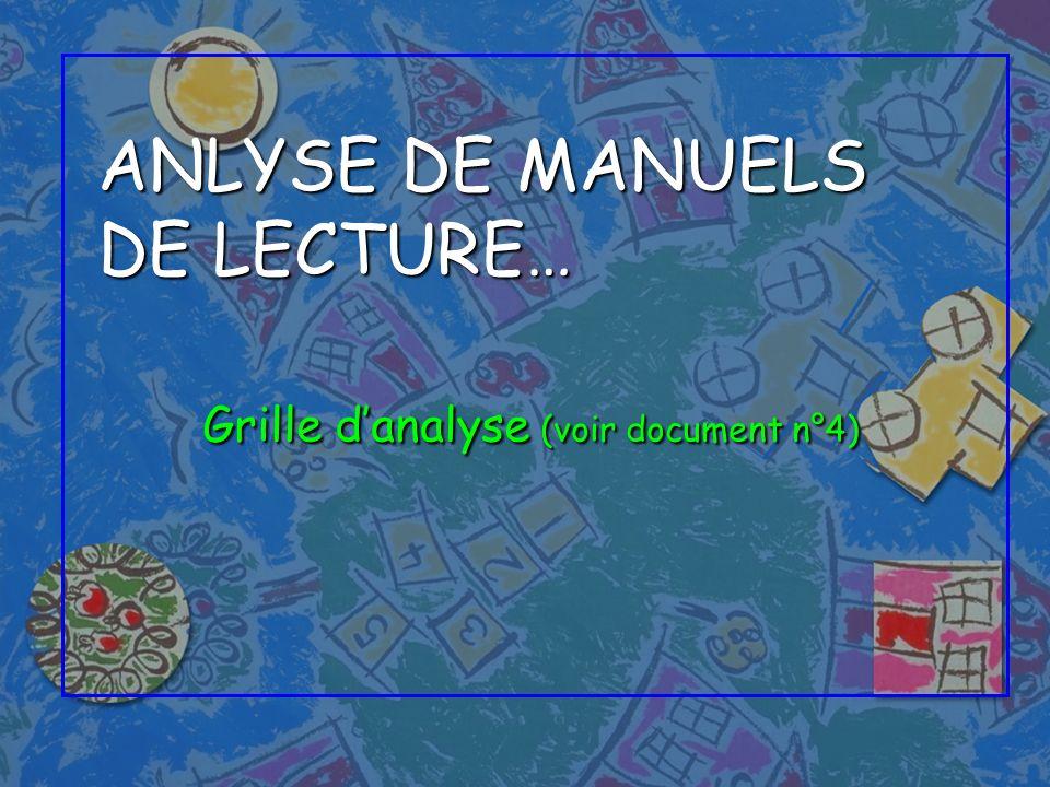 ANLYSE DE MANUELS DE LECTURE…