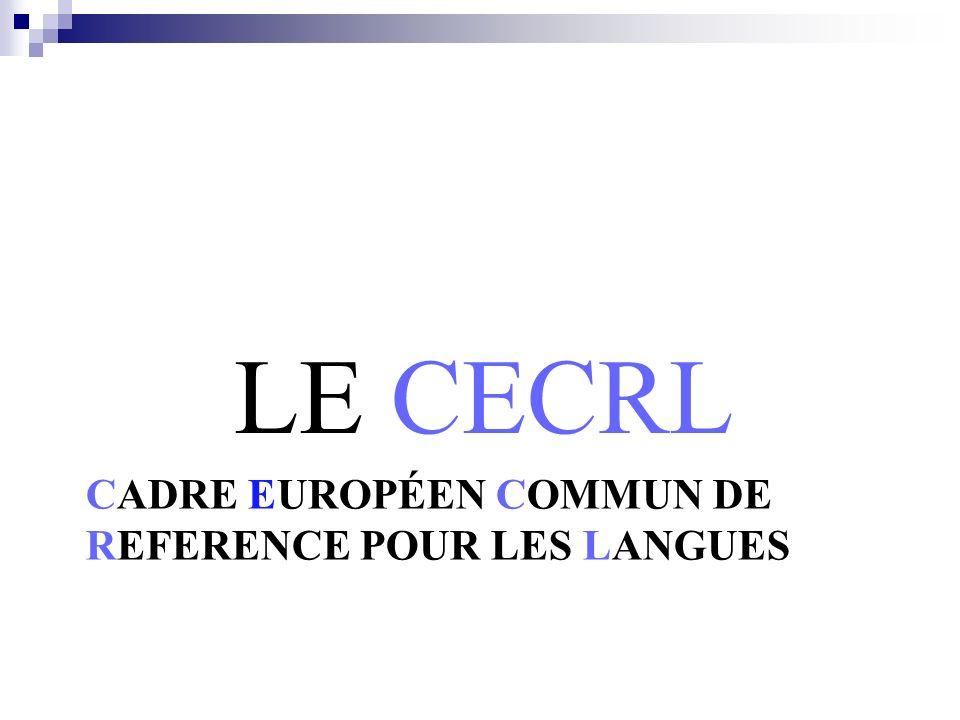 Cadre Européen Commun de reference pour les langues