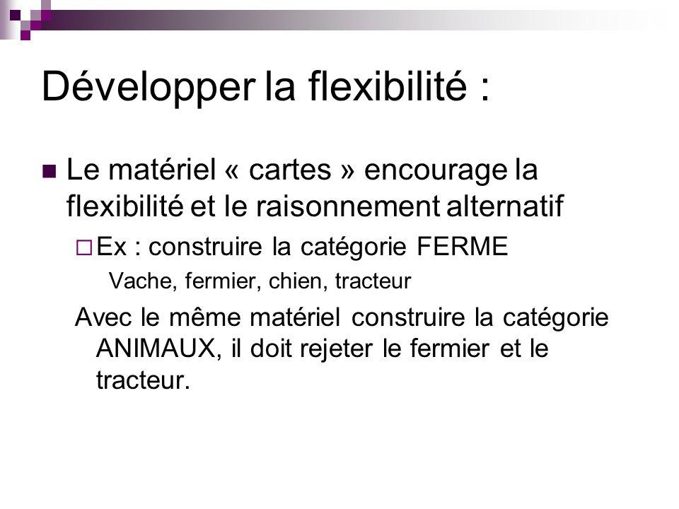 Développer la flexibilité :