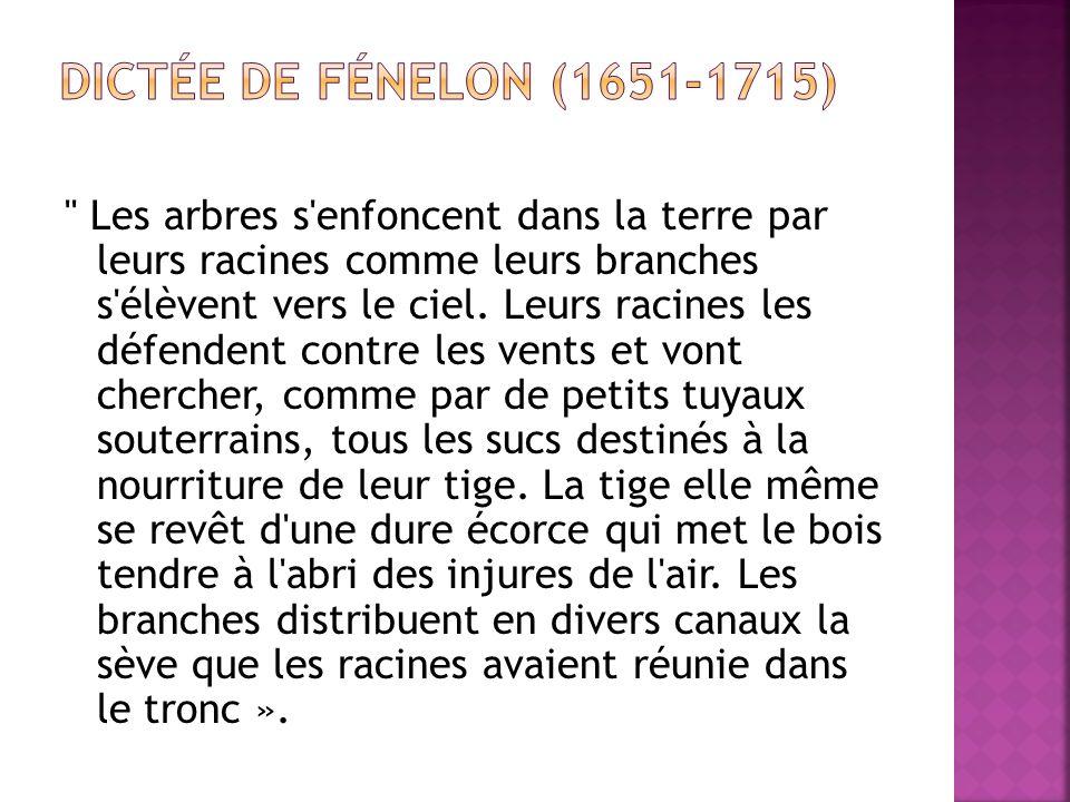 Dictée de Fénelon (1651-1715)
