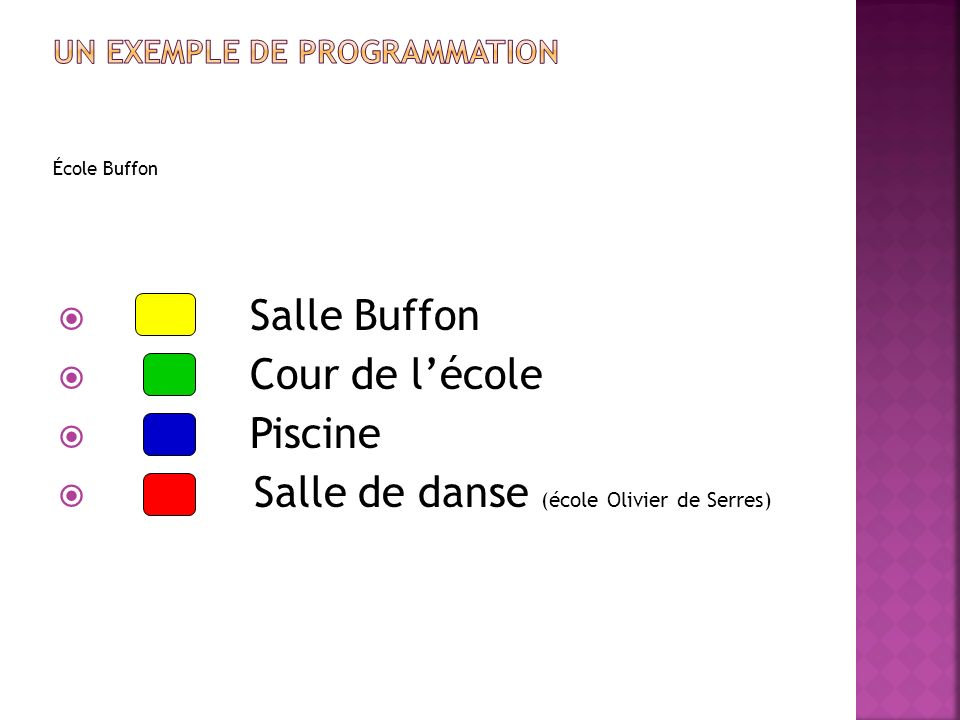 Un exemple de programmation