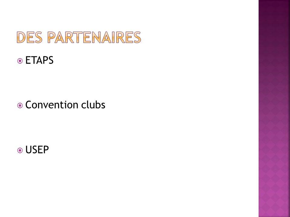 Des partenaires ETAPS Convention clubs USEP