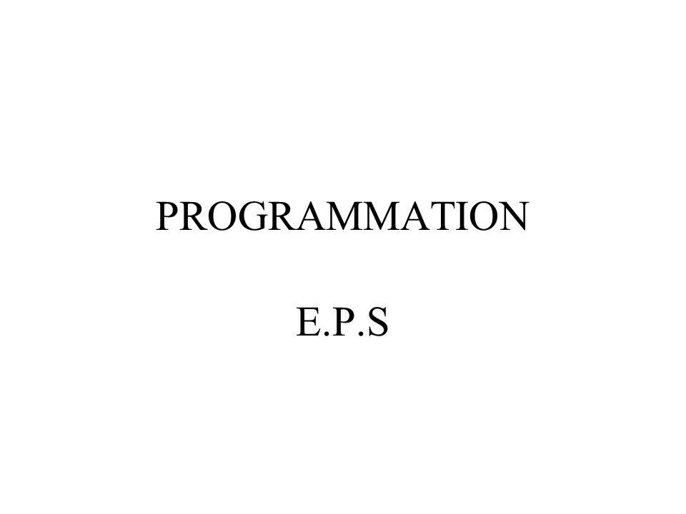 PROGRAMMATION E.P.S