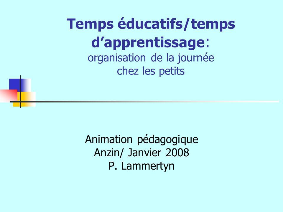 Animation pédagogique Anzin/ Janvier 2008 P. Lammertyn