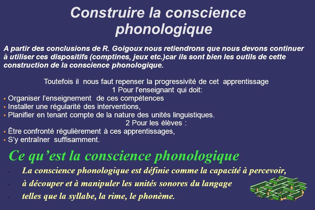 Construire la conscience phonologique
