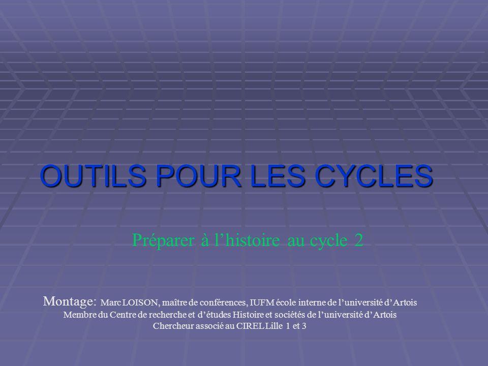 OUTILS POUR LES CYCLES Préparer à l'histoire au cycle 2