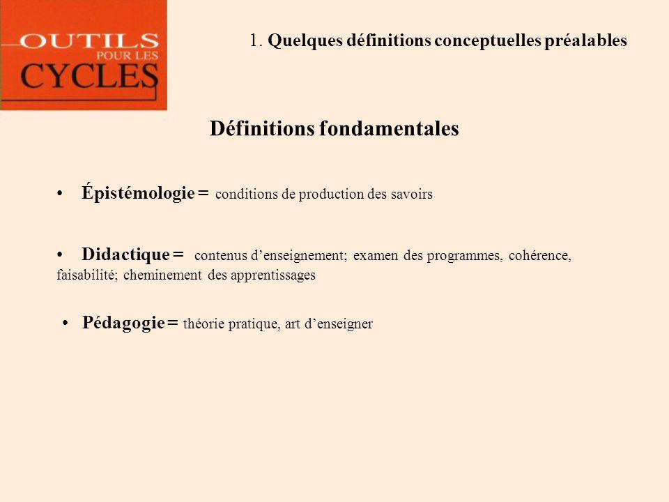 Définitions fondamentales