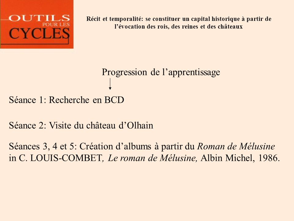 Progression de l'apprentissage
