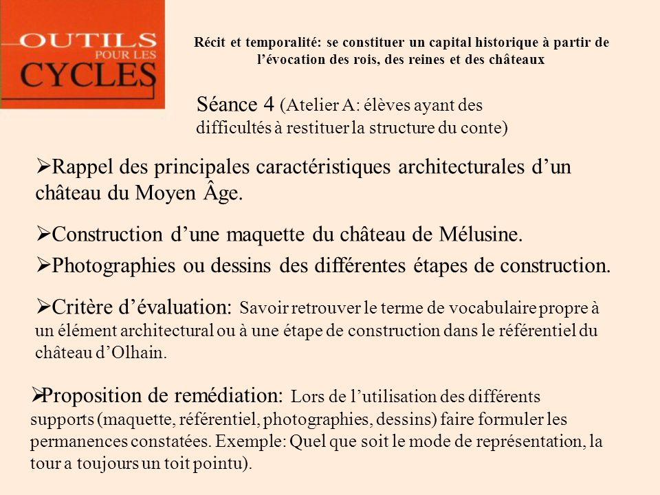 Construction d'une maquette du château de Mélusine.