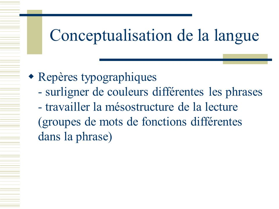 Conceptualisation de la langue
