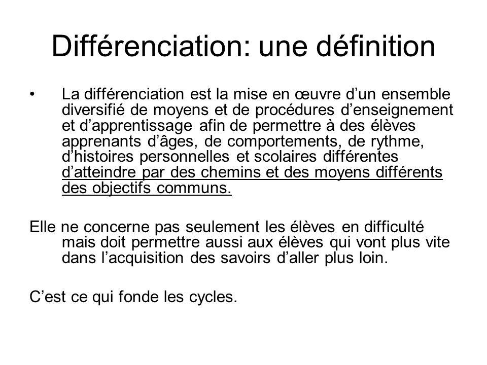 Différenciation: une définition