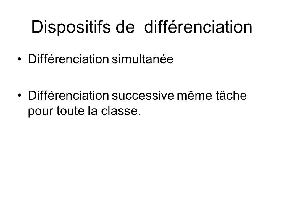 Dispositifs de différenciation
