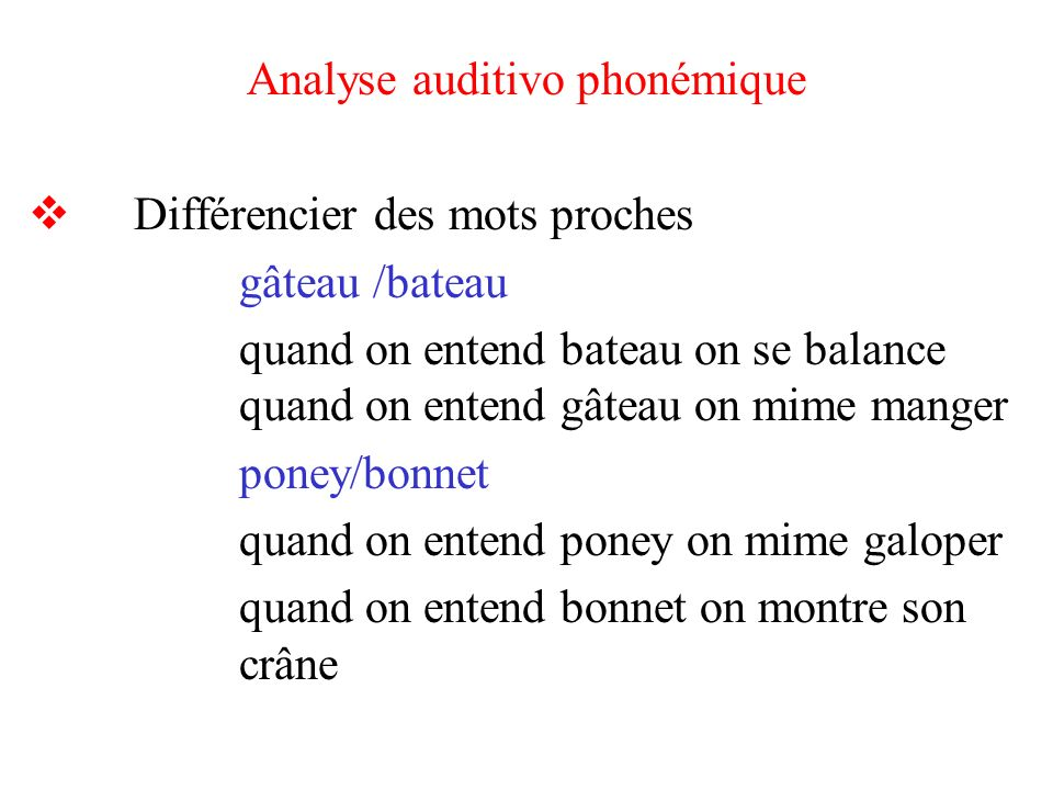 Analyse auditivo phonémique