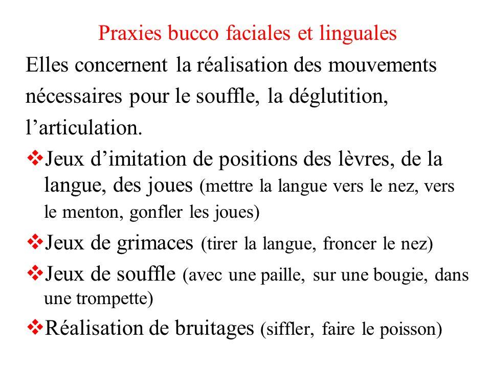 Praxies bucco faciales et linguales