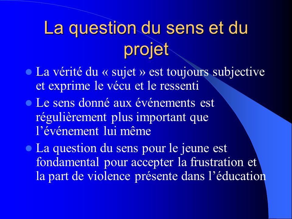 La question du sens et du projet