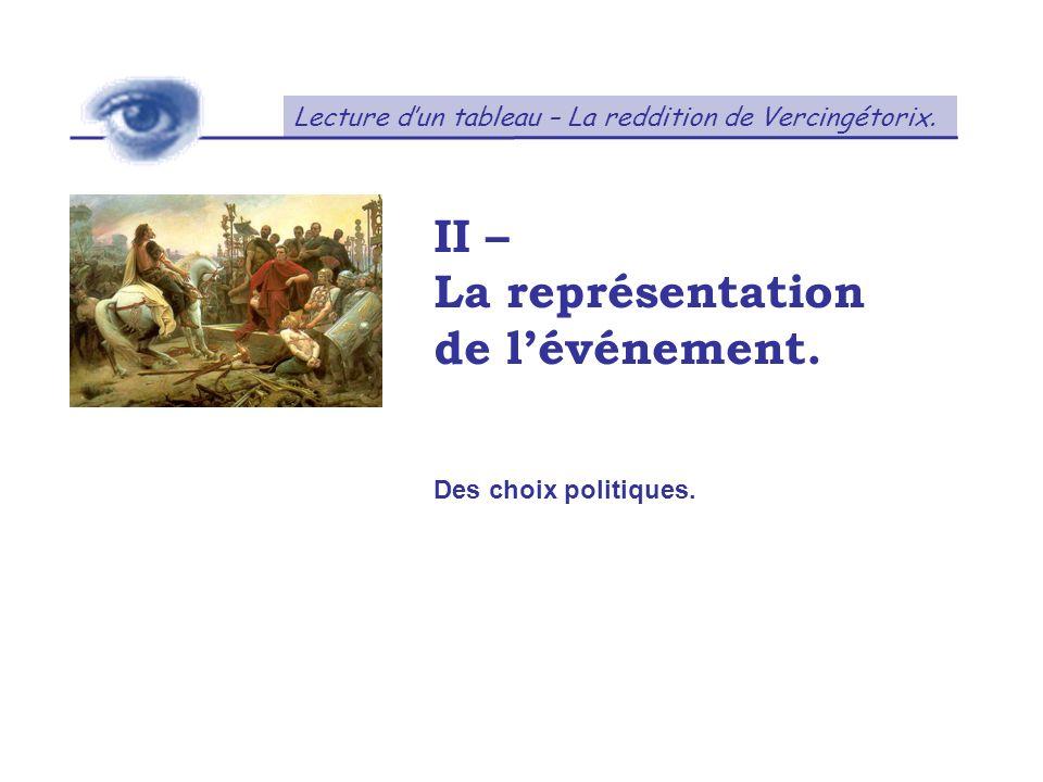 II – La représentation de l'événement.