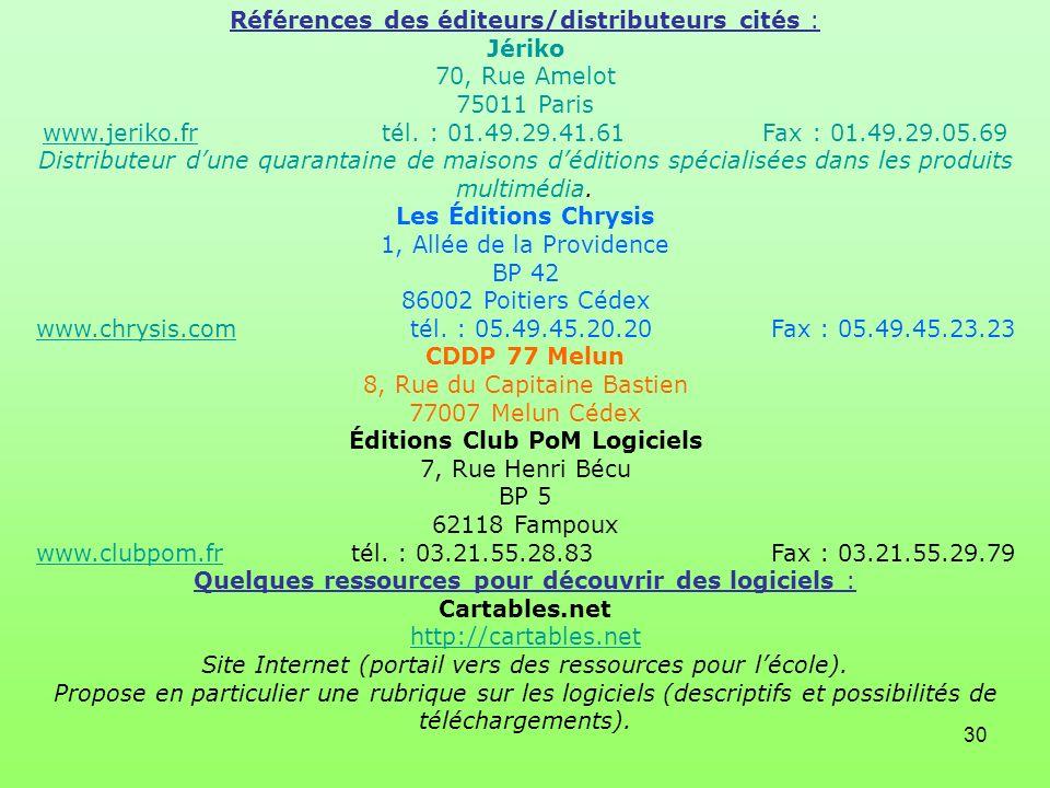 Éditions Club PoM Logiciels