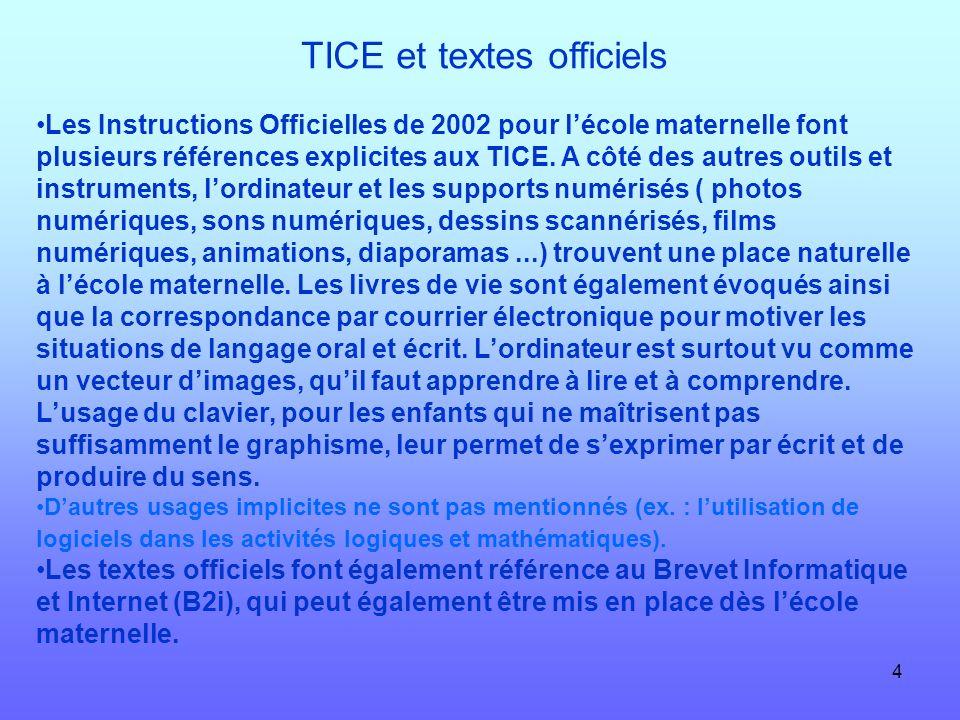 TICE et textes officiels