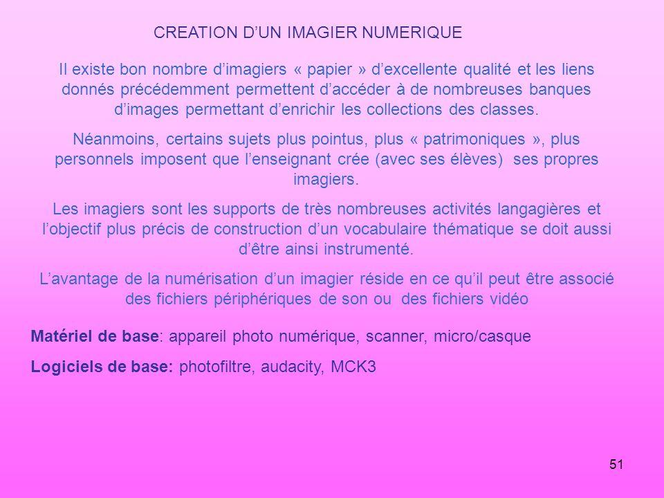 CREATION D'UN IMAGIER NUMERIQUE