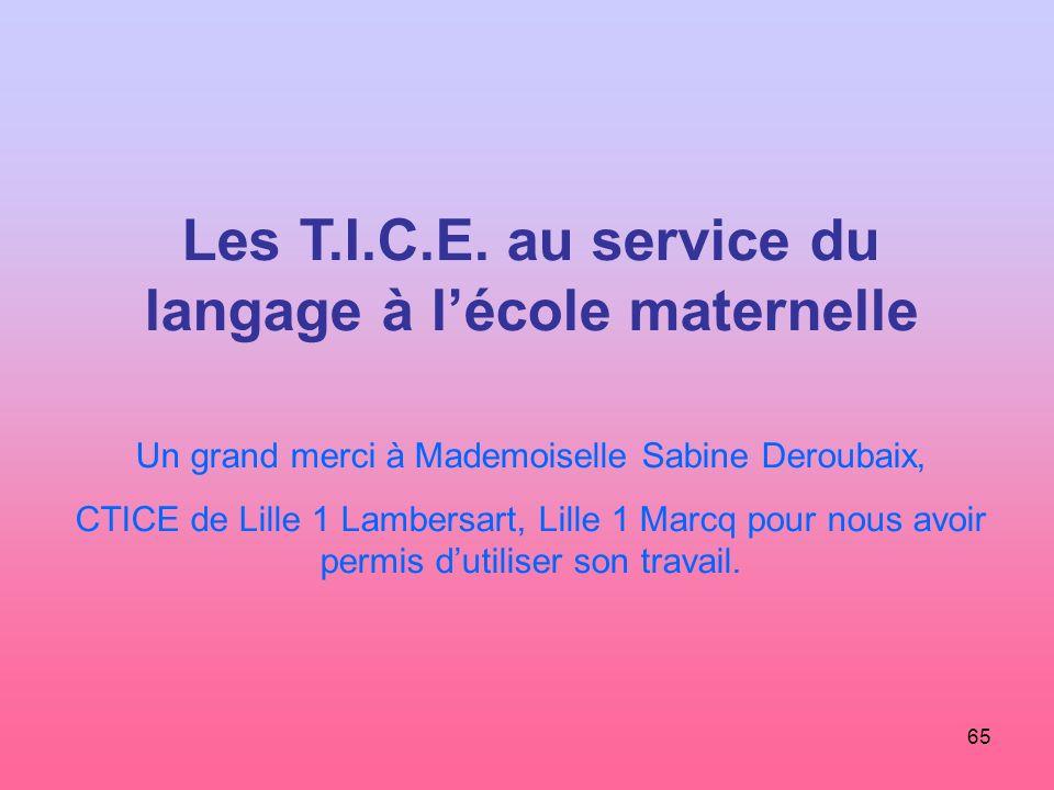 Les T.I.C.E. au service du langage à l'école maternelle