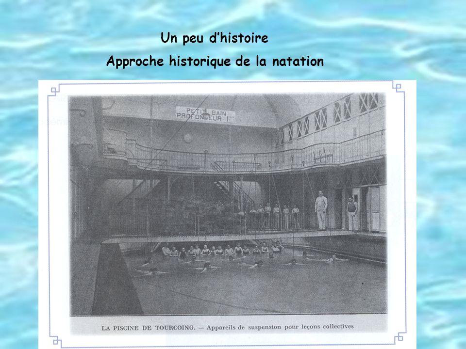 Approche historique de la natation