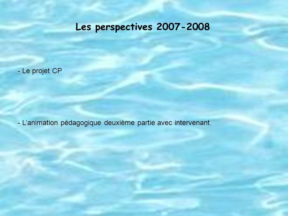 Les perspectives 2007-2008 Le projet CP