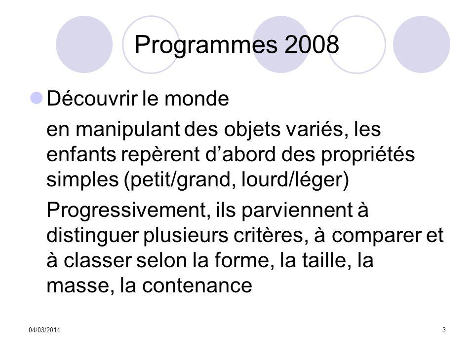 Programmes 2008 Découvrir le monde