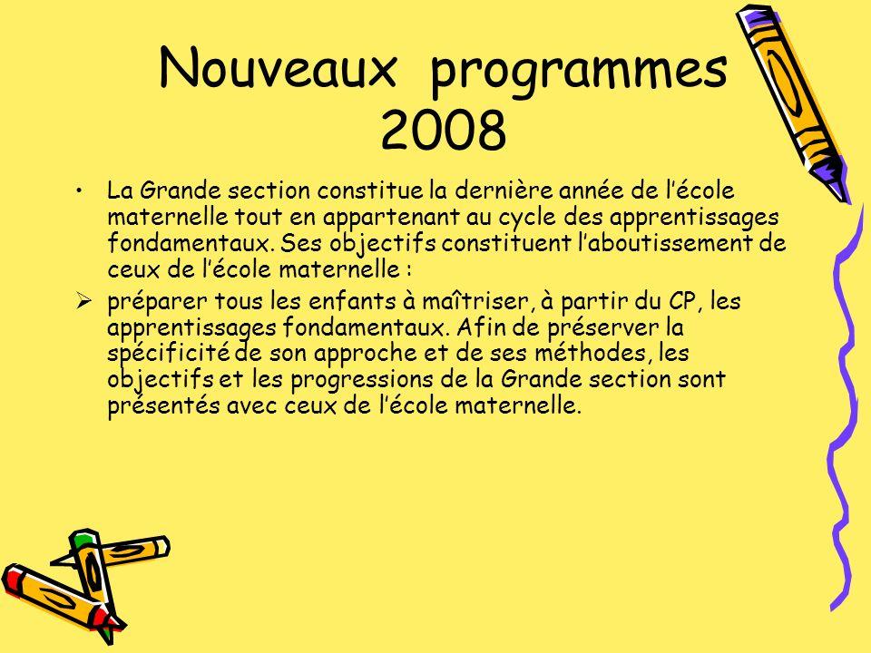 Nouveaux programmes 2008