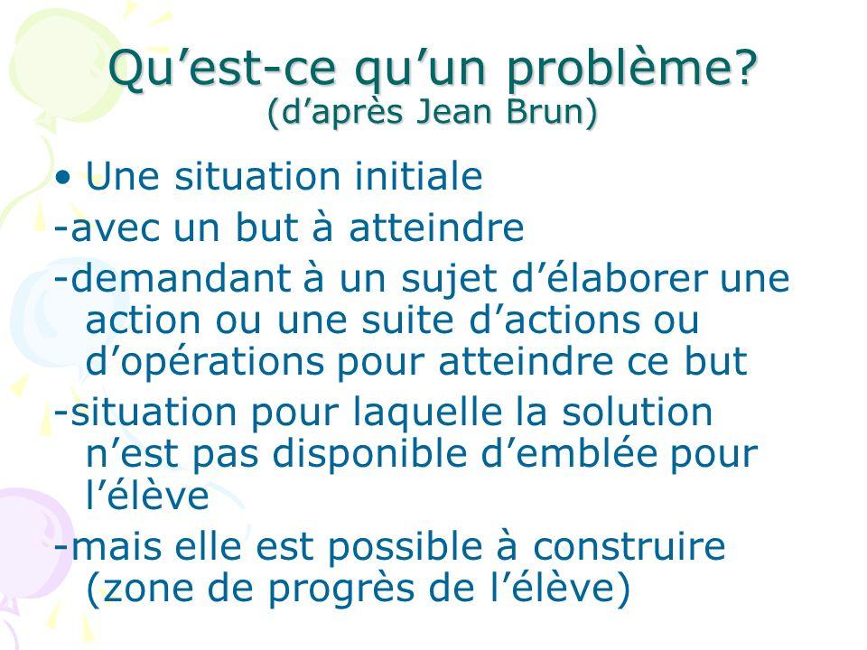 Qu'est-ce qu'un problème (d'après Jean Brun)