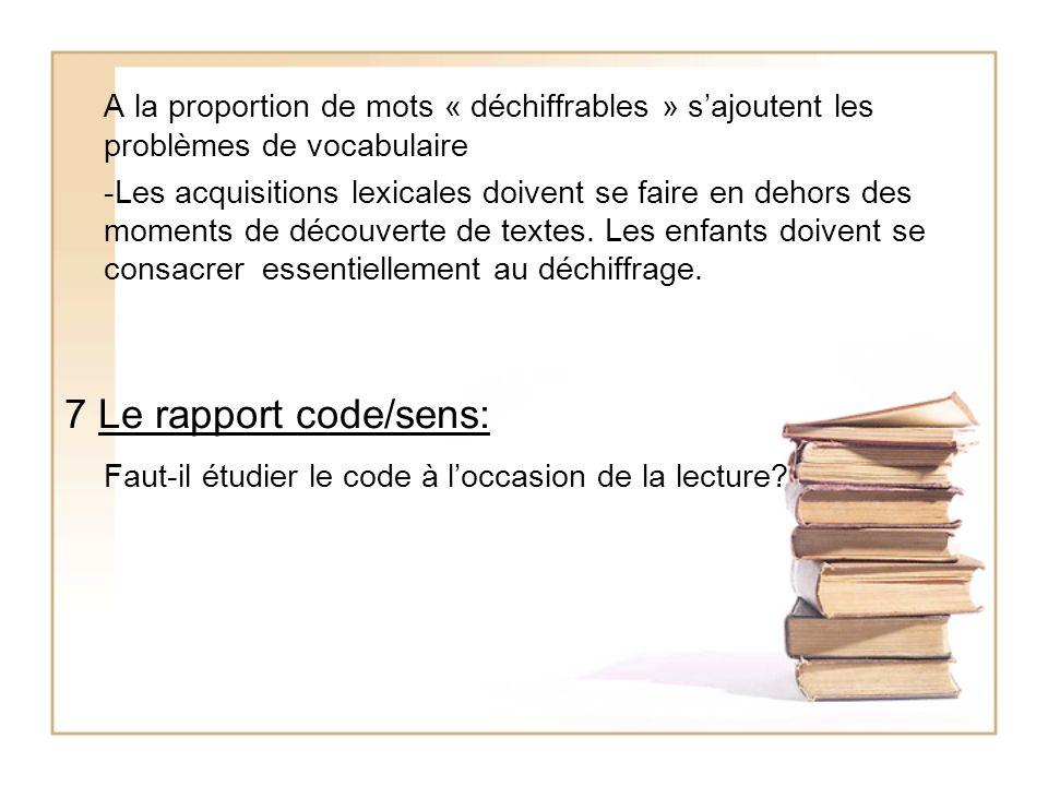 Faut-il étudier le code à l'occasion de la lecture