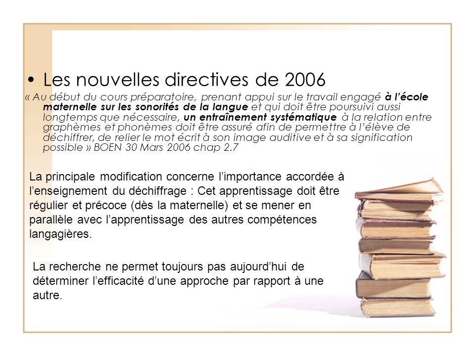 Les nouvelles directives de 2006